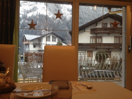 And this is the view out the window of our breakfast table.