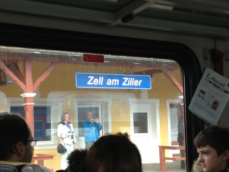 The train stop at Zell am Ziller. We still need to hop on a ski bus to take us to the mountain....another 20-30minutes.