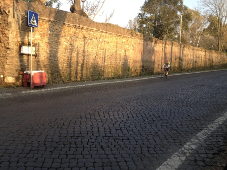 Italian Biker....must be wearing a cup...these cobblestones are brutal!