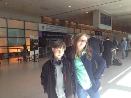 Logan Airport!!! First pic in USA after going through customs!