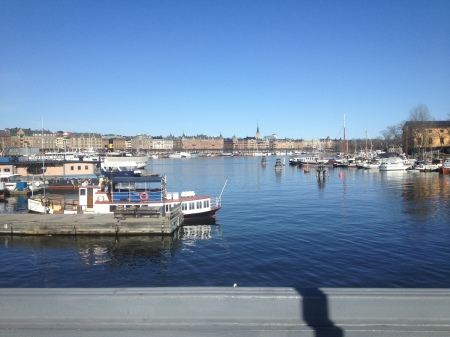 Walking out in Skeppsholmen after arriving  back in Stockholm.