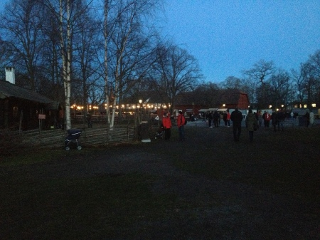 Looking around the gathering at Skansen before we depart home.