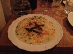Risotto with asparagus and parmesan chips, OMG, a must! We shared.