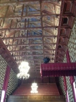 Here is the Council Chamber ceiling. Some think it is an upside down replica of the Vasa boat. The blue color is to represent the sky and open ceiling, much like an open Piazza and to meet with open minds during meetings.