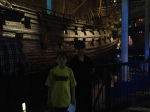 Dark picture of the boys in the Vasa.
