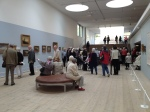 Inside the gallery at Millesgarden.