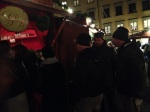 Out in the markets at Gamla Stan, so very cold, we enjoyed glogg and pepperkacka (cookies)