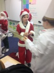 Some of George's classmates were also Santa's