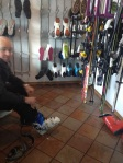 Ski and boot room.