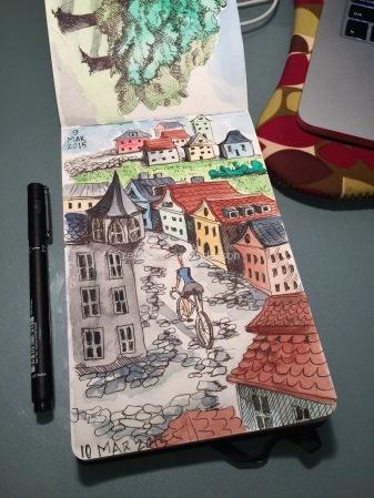 sketchbook dream of climbing